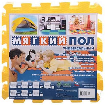 Мягкий коврик-пазл Eco cover Универсальный Желтый