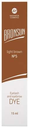 Краска для бровей Innovator Cosmetics BRONSUN №5 Light brown 15 м