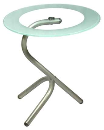 Журнальный стол Мебелик 55х50х50 см, серебристый