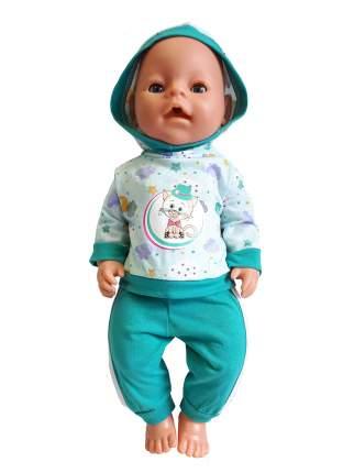Костюм спортивный для куклы Колибри 115 бирюзовый с белым