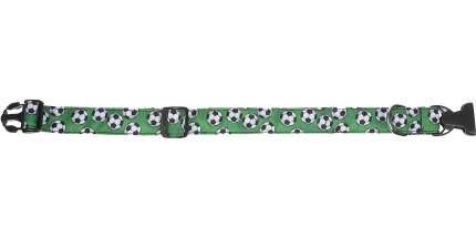 Ошейник для собак и кошек PerseiLine ДИЗАЙН ФУТБОЛ, нейлон, XL, 25мм, 40-65см
