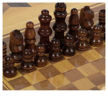 """Набор настольных игр 3 в 1 """"Шашки, шахматы, нарды"""""""