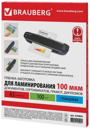 Пленка-заготовка для ламинирования, А3, 100 мкм, 100 штук