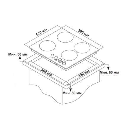 Встраиваемая газовая панель независимая Hi VG 6020 W