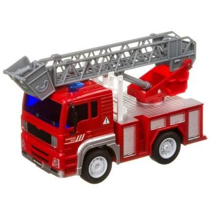 Инерционная машинка Bondibon «ПАРК ТЕХНИКИ», пожарный кран, свет, звук BOX 24х12х15,5