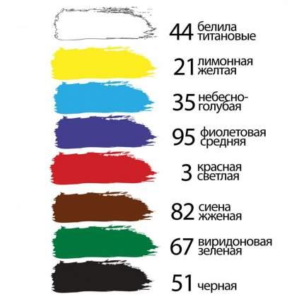 Акриловые краски Brauberg Художественные 24 цвета 75 мл