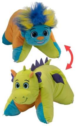 Подушка-вывернушка 1TOY Разноцветный тролль - Салатовый дракон Т12044