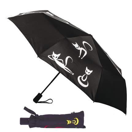 Зонт-автомат Flioraj 210201 FJ Тайные знаки черный