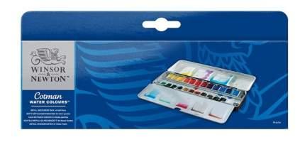 Акварель Winsor&Newton Cotman Metal Sketchers' Box 24 цвета
