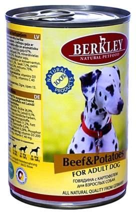 Влажный корм для собак Berkley Говядина с картофелем 400 г
