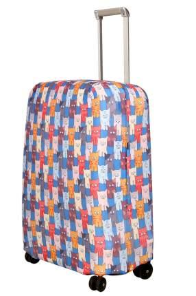 Чехол для чемодана Routemark Шкодастрофа M/L SP180 голубой