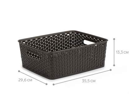 Коробка для хранения my style m 13л темно-коричневая