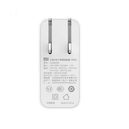 Зарядное устройство Xiaomi для ноутбука Mi Notebook Air 45W White