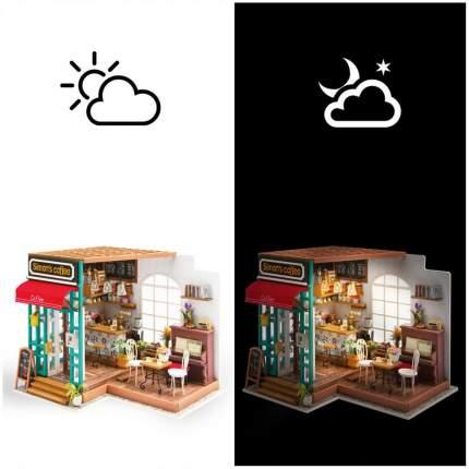 Конструктор деревянный Robotime DIY House Кафе Саймона Simons Coffee
