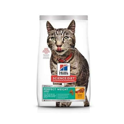 Сухой корм для кошек Hill's Science Plan Perfect Weight, поддержание веса, курица, 8кг