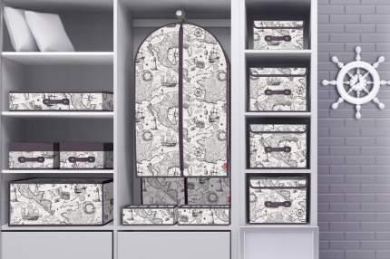 Чехол для одежды Valiant EXPEDITION большой белый/серый 60х137х10 см (EX-CV-137)