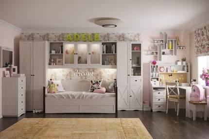 Платяной шкаф Hoff Adele 80326810 212,5х39,7х83,6х, ясень анкор светлый/бронзовый/белый