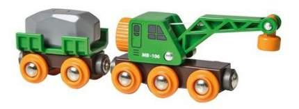 Вагон подъёмный кран деревянной железной дороги Brio 33698