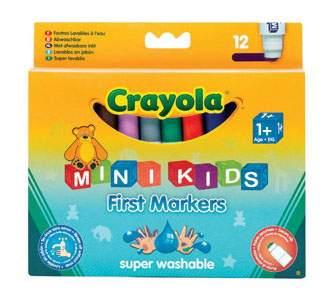 Фломастеры для малышей Crayola 12 цветов
