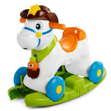 Каталка-качалка Chicco Baby Rodeo Лошадка со звуковыми эффектами, цв. белый