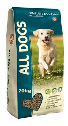 Сухой корм для собак ALL DOGS Fol All Breeds, злаки, мясо, овощи, рыба, 20кг