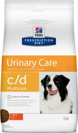 Сухой корм для собак Hill's Prescription Diet c/d Urinary Care, мясо, 12кг