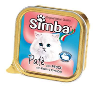 Консервы для кошек Simba Pate, паштет с рыбой, 32шт по 100г