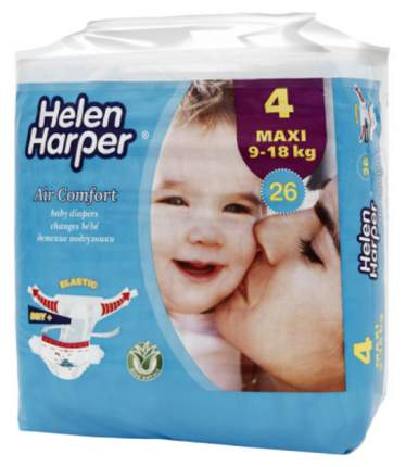 Подгузники Helen Harper AirComfort Maxi (9-18 кг), 26 шт.