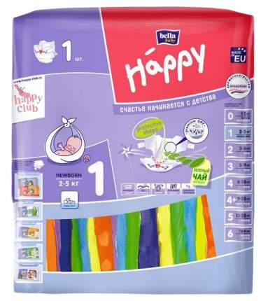 Подгузники для новорожденных Bella Baby Happy Newborn 1 (2-5 кг), 1 шт.