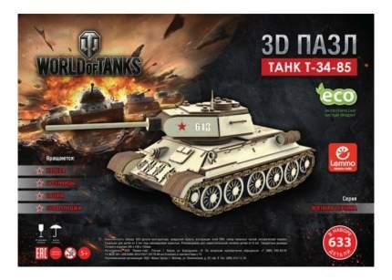 Конструктор деревянный Lemmo Танк Т-34-85