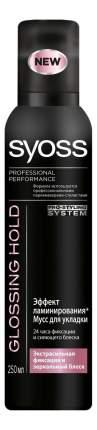 Мусс для волос SYOSS Glossing Hold Эффект Ламинирования экстрасильная фиксация 250 мл