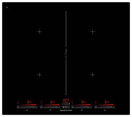 Встраиваемая варочная панель индукционная Zigmund & Shtain CIS 321.60 BX Black
