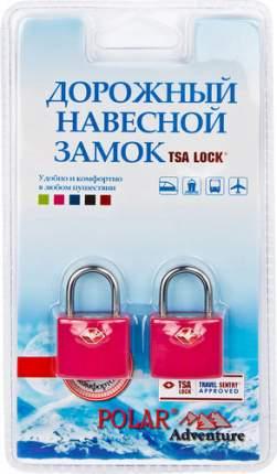 Замок для багажа навесной с ключами Polar темно-розовый 2 шт. 800507