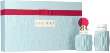Подарочный набор MIU MIU Парфюмерная вода, 50 мл + лосьон для тела, 100 мл