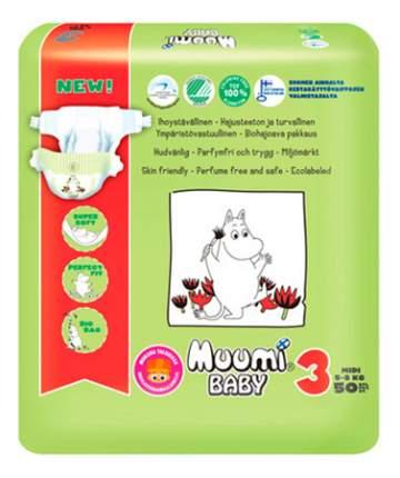 Подгузники Muumi Baby Midi (5-9 кг), 50 шт.