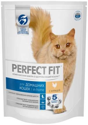 Сухой корм для кошек Perfect Fit In-home, для домашних, курица, 6шт по 1,2кг