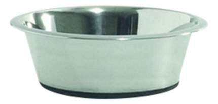 Одинарная миска для собак Beeztees, сталь, резина, серебристый, 1.8 л