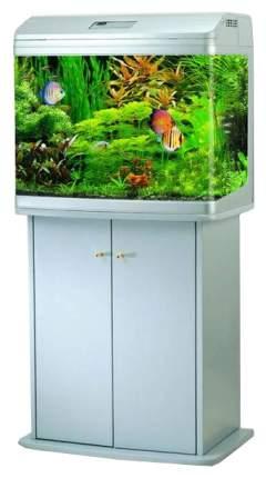 Аквариум для рыб Jebo R 362, влагозащитная поверхность, с изогнутым стеклом, серебро, 95 л