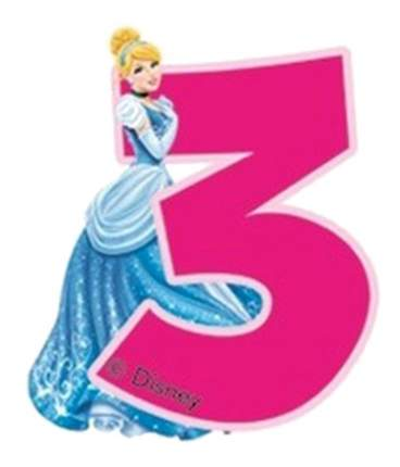 Свеча-цифра PROCOS Принцессы 3 года