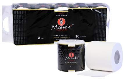 Туалетная бумага Maneki Black & White 10х30 м