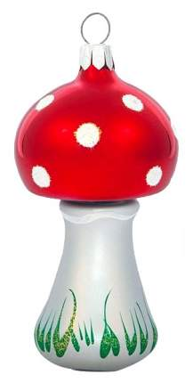 Елочная игрушка Елочка Мухомор C22 8,5 см 1 шт.