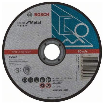 Диск отрезной абразивный Bosch МЕТАЛЛ 150x1,6 мм , прям 2608603398
