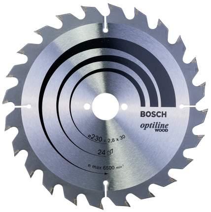 Пильный диск по дереву Bosch STD WO 230x30-24T 2608640627