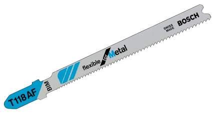 Набор пилок для лобзика Bosch T 118 AF, BIM 2608634774
