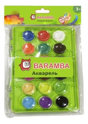 Акварель Baramba сухие таблетки 18 цветов