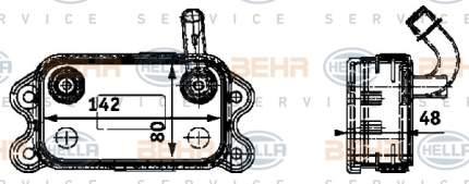 Радиатор АКПП Hella 8MO 376 726-151