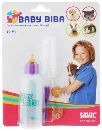 Бутылочка для компления животных Savic, 70 мл, белый, фиолетовый