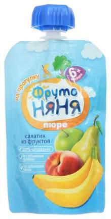 Пюре фруктовое ФрутоНяня Салатик из фруктов с 6 мес 90 г