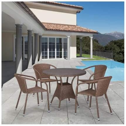 Комплект мебели Afina Garden T197AT/Y137C-W56 Light brown (4+1)