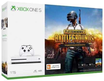 Игровая приставка Microsoft Xbox One S 1Tb White + Игра PlayerUnknown's Battlegrounds